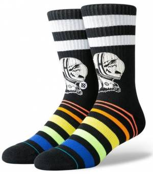 Stance Moon Man Ponožky Čierne