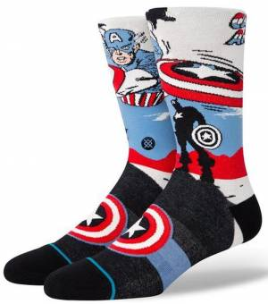 Stance Captain America Marquee Ponožky Biele