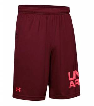 Under Armour Tech Wordmark Red Wine Shorts M šortky