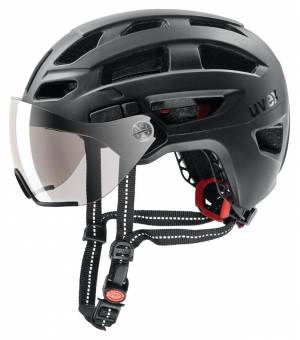 Uvex C Finale Visor Black Matt cyklistická prilba 56-61 cm