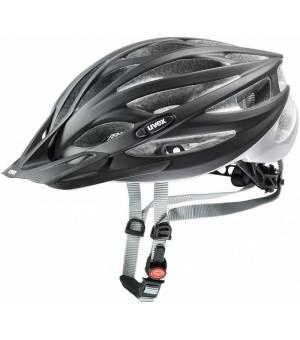 Uvex Oversize Black Mat Silver Cyklistická Prilba Čierna